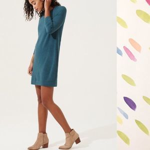 Lou & Grey teal long sleeve sweatshirt dress M